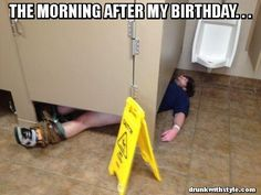 The Morning After My Birthday Drunk Guy Passed Out Public Restroom