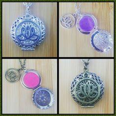 Lotus Essential Oil Aromatherapy Diffuser Necklaces www.etsy.com/shop/EssentiallyElegant