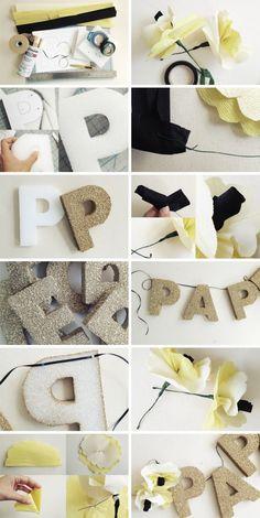 DIY – Les lettres scintillantes de Paper Cup av un beau jour
