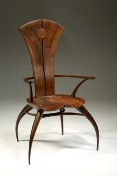 Joe Graham | 'Solidback Spider' Chair Walnut and oak