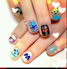 Disney nails!!  monsters inc.     Toy story