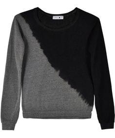 Dark Grey Diagonal Sweatshirt $96.00 UPSTATE