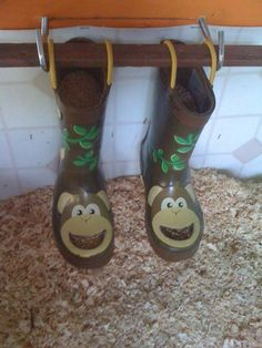 Chicken feeders.....I want the boots tho for me not chicken feeders!! Lol
