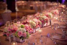 Multiple square or low round vases make a statement !
