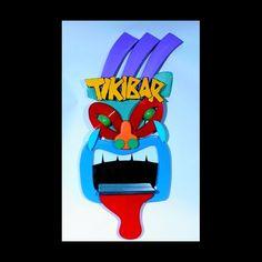 TIKI BAR Original Sign Mid Century Modern Tropical Wall Man Cave Art Sculpture! by BillieBoi on Etsy