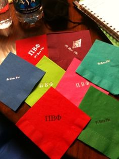 All Southern Girls have monogramed napkins