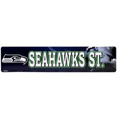 "Seattle Seahawks 4"" x 16"" Street Sign"