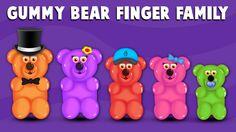 The Finger Family Gummy Bear Family Nursery Rhyme Sister Finger, Mommy Finger, Baby Finger, Finger Family Rhymes, Family Songs, Kids Songs, Lollipop Candy, Candy Pop, Family Cake