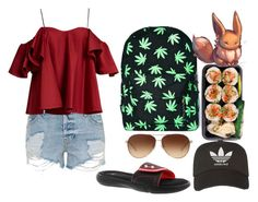 """""""Today's Outfit"""" by carlybae ❤ liked on Polyvore featuring Under Armour, Coach, Comeco, adidas, Topshop and Anna October"""