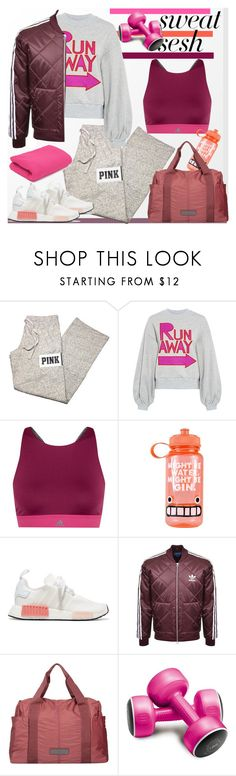 """""""Gym Style"""" by ellie366 ❤ liked on Polyvore featuring Victoria's Secret PINK, Karen Walker, adidas, Jolly Awesome, adidas Originals, sweatpants, sneakers, quilted and sweatsesh"""