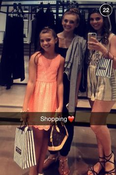 Kenzie and friends shopping!