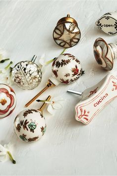 Mother-Of-Pearl Knob by Anthropologie in White, Knobs Cabinet And Drawer Knobs, Kitchen Cabinet Drawers, Dresser Knobs, Knobs And Handles, Drawer Handles, Knobs And Pulls, Door Knobs, Cupboard, Door Handles