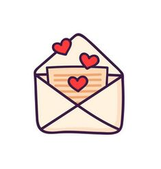 Color romantic envelope with heart isolated Flat Vector Image Cute Fall Wallpaper, Wallpaper Iphone Cute, Bullet Journal Art, Bullet Journal Themes, Valentines Day Drawing, Drawings Of Friends, App Logo, Iphone Icon, Simple Doodles