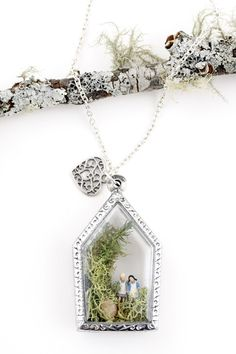 Out for a Lark Locket  Two little adventurers are out for a lark!