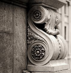 ⌖ Architectural Adornments ⌖ ornate building details - Corbel, carved marble.