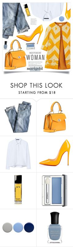 """""""Independent Woman"""" by marina-volaric ❤ liked on Polyvore featuring Dries Van Noten, J.Crew, Proenza Schouler, Zara, Christian Louboutin, Chanel, Clinique, Burberry, Deborah Lippmann and marigold"""