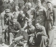 Abraham Lincoln Brigade from the United States fighting in Spanish Civil War, Aragón, 1937