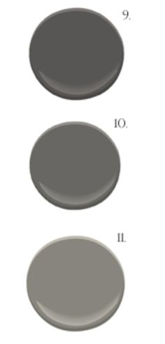 Bm Iron Mountain Kendall Charcoal Chelsea Gray All Benjamin Moore Number 9 For Shutters
