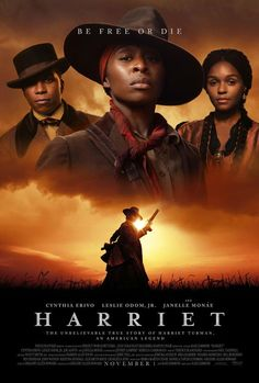 Harriet Tubman Biopic Gets New Poster Look at Janelle up in the clouds shining! Focus Features just released a brand new poster for the Harriet Tubman that features both Monae and Leslie Odom Jr. in addition to two images of Cynthia Erivo. Harriet Tubman, Film D'action, Bon Film, Drama Film, Thriller, Science Fiction, Pulp Fiction, Films Hd, Movie Posters