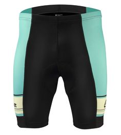Aero Tech Designer 1979 Retro Active Cyclewear Celeste Green Bike Short - Sprint Line