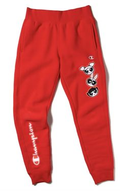 Joggers from the upcoming collab of Champion & Powerpuff Girls. Cute Lazy Outfits, Cute Swag Outfits, Sporty Outfits, Nike Outfits, Retro Outfits, Trendy Outfits, Teen Fashion Outfits, Outfits For Teens, Sporty Fashion