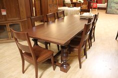 Light, solid wood table and chairs made right here in America! #shopGF | Houston TX | Gallery Furniture |