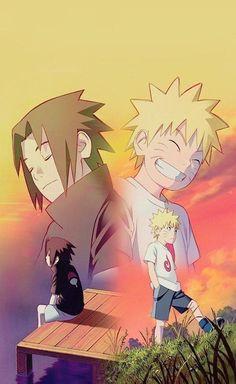 Naruto Vs Sasuke, Naruto Uzumaki Shippuden, Anime Naruto, Anime Chibi, Naruto And Sasuke Wallpaper, Naruto Sasuke Sakura, Wallpaper Naruto Shippuden, Naruto Cute, Sasunaru
