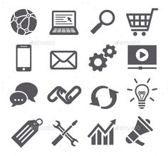 SEO Icons — JPG Image #find #chat • Available here → https://graphicriver.net/item/seo-icons/11220881?ref=pxcr