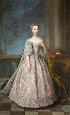 Portrait of the daughter of George II of Great Britain by Philip Mercier, painted in 1728 Princess Amelia Sophia