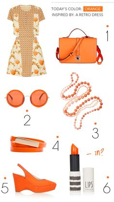 retro orange, guest post via designlovefest.com