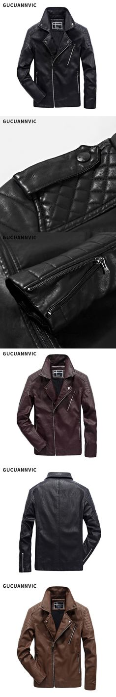 FASHION Men's motorcycle jacket New arrive High Quality brand Casual men fur leather jacket men's leather coat
