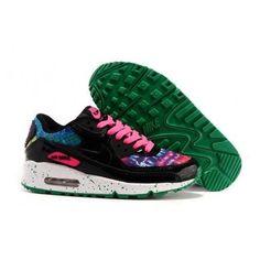 Nike Air Max 90 Womens Shoes Black Pink Peacock f9c1d927fb