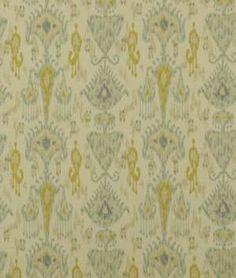 Robert Allen @ Home Khanjali Glacier Fabric | onlinefabricstore.net - Master Drapery +toss pillow