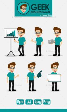 Geek Businessman Characters