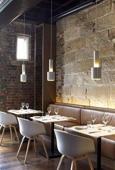 cafe restaurant A variety of lighting available at Springlights in Kloof, Durban. Australian Interior Design, Interior Design Awards, Restaurant Interior Design, Home Interior, Interior Design Inspiration, Interior Architecture, Contemporary Interior, Luxury Interior, Restaurant Bar