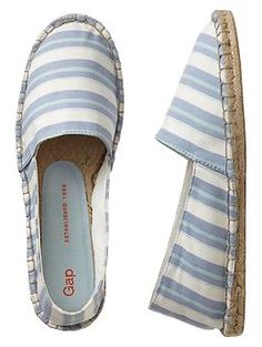 Printed espadrille slip-ons in light blue stripes from GAP