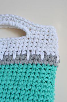 #eliasfrank crochet textile tote bag