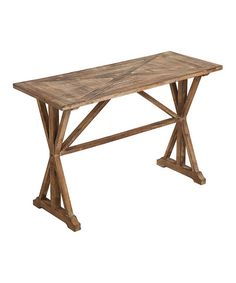 Wooden Hall Table   zulily