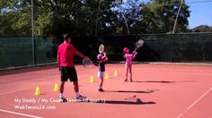 Tennis lesson with little kids - part 1 (lesson 10) - YouTube