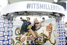 Miller Lite Beer Hall: A 360-degree branded photo booth captured guests in action. The beer hall was open to the public.