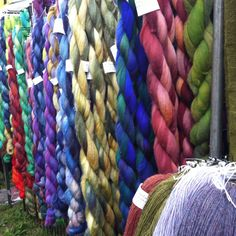 Roving in beautiful colors and textures from The Maryland Sheep and Wool Festival...