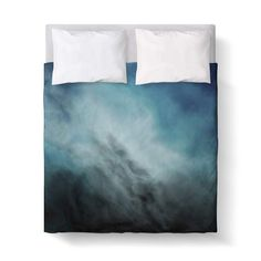 Duvet Cover, Winter Storm Blue Grey by Kalilaine