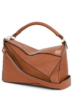 Interesting: LOEWE 'Large Puzzle' Leather Bag available at #Nordstrom; cuboid bag, alternate choice for an all-day bag/overnight bag.