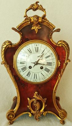 Vintage & Antiques - Community - Google+  Antique French Boulle Clock 8 Day Medalion Enamel Dial Turtle Shell 42cms ebay.co.uk