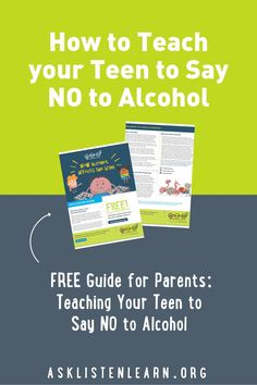 Trouble talking to your teen about alcohol? Download your free guide now. Specifically geared towards 5th and 6th graders, this unit also includes videos and tips for parents to help elementary school and middle school students say no to underage drinking. #underagedrinking #parents #middleschool #teen #tween