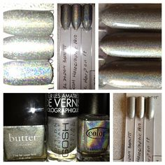 Butter London Dodgy Barnett  Click to see the other two holo comparisons!  #Franken-cense #ButterLondon #NailPolish