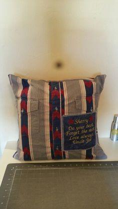 Keepsake pillow Throw Pillows, Warm, Quilts, Toss Pillows, Cushions, Quilt Sets, Decorative Pillows, Log Cabin Quilts, Decor Pillows