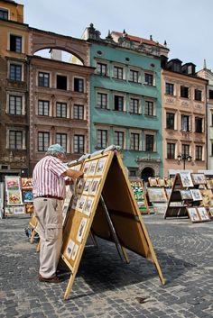 Praça da #Sereia - #Varsóvia, capital da #Polónia, cidade de Frederic Chopin e de Marie Curie, nas margens do rio Vístula. A 2ª Guerra Mundial destruiu 85% da massa arquitectónica