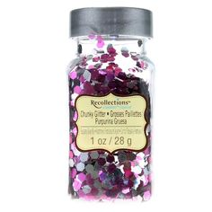 Signature Super Chunky Glitter by Recollections in Raspberry Silver Mix Cheap Slime, My Favorite Color, My Favorite Things, Day Wishes, Clothes Crafts, Nail Decorations, Craft Supplies, Raspberry, Paper Crafts