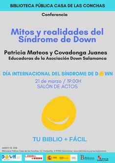21 de marzo de 2018, Día Internacional del Síndrome de Down. Conferencia de Patricia Mateos y Covadonga Juanes en el Salón de Actos de la Biblioteca